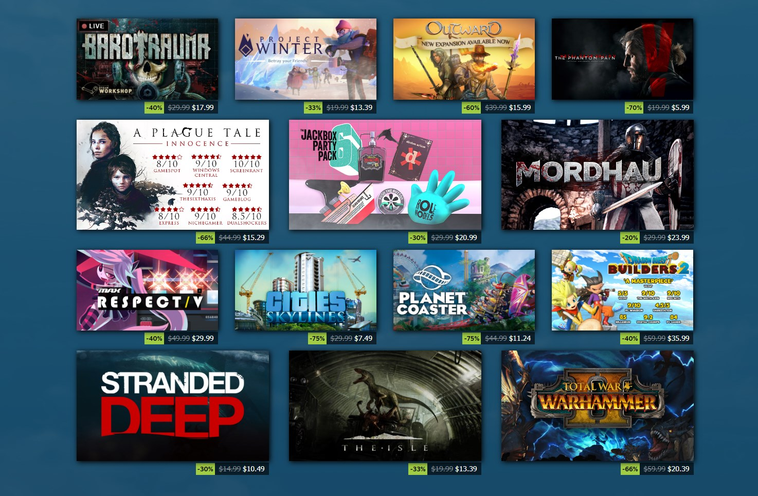 Best deals from the Steam Summer Sale 2020