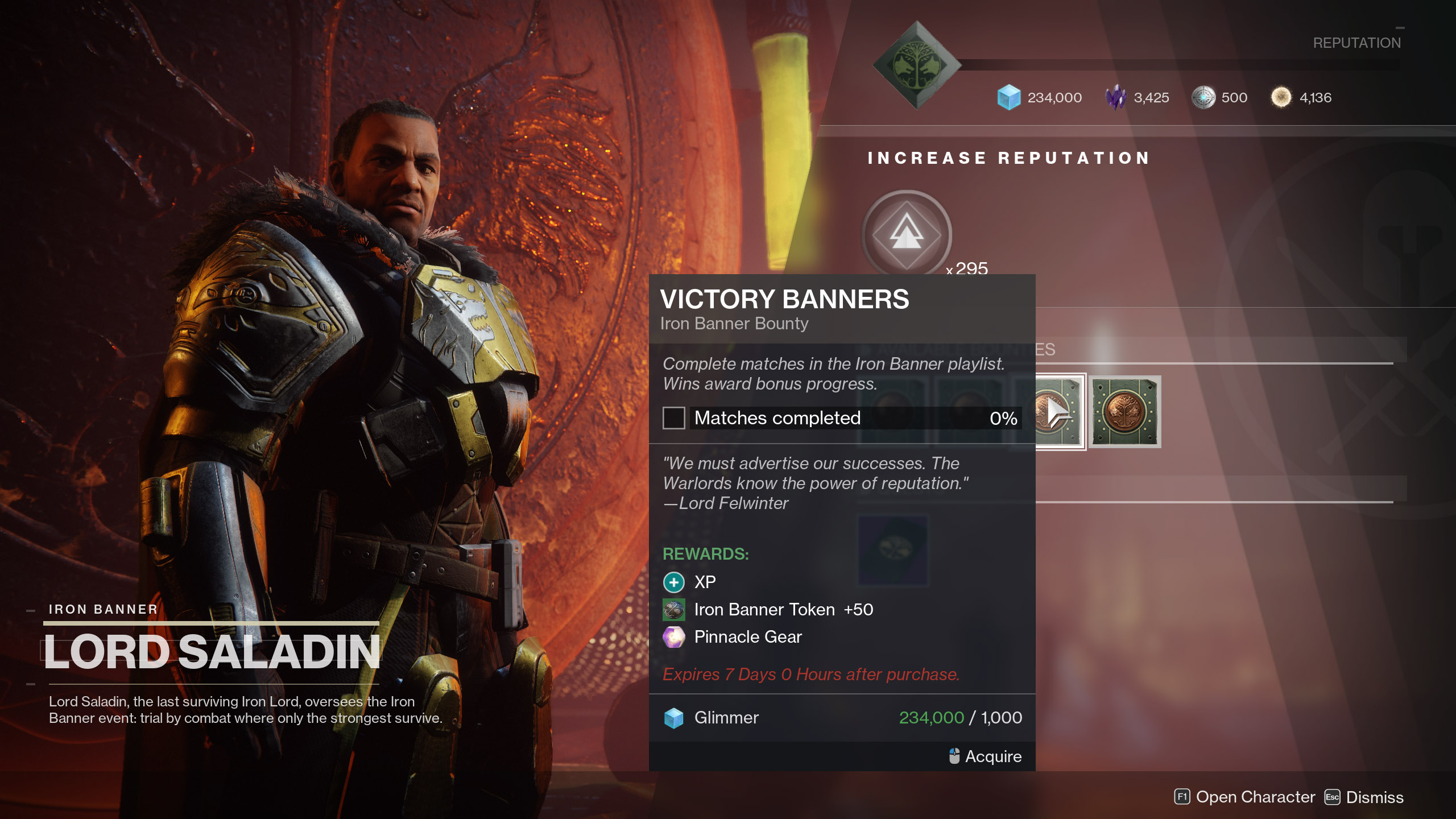 Victory Banners Iron Banner Bounty