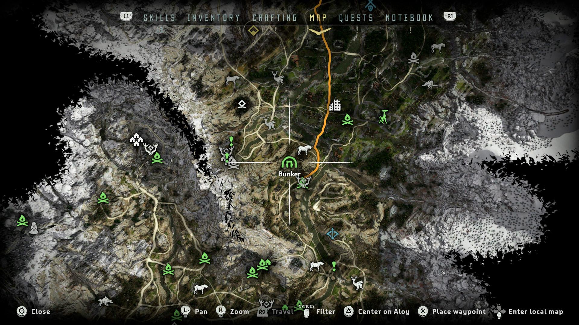 ancient armory bunker location horizon zero dawn