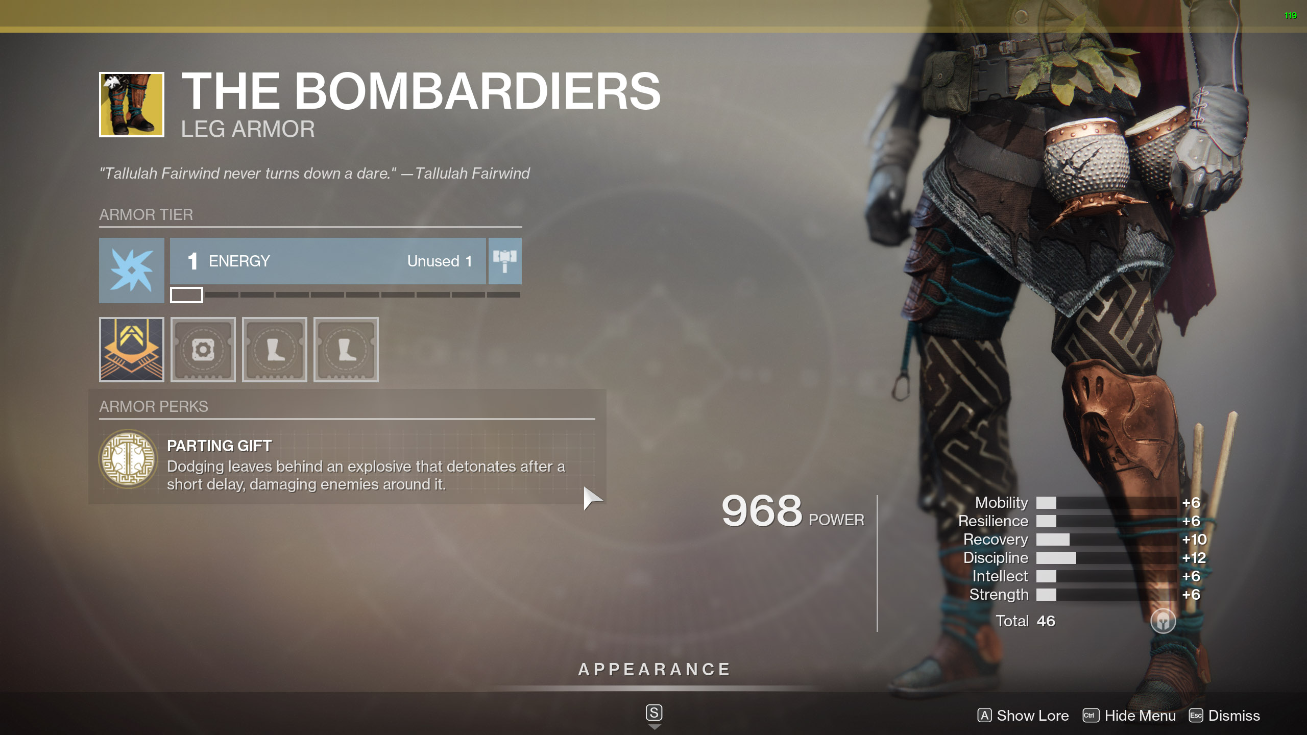 Destiny 2 Exotic Hunter armor The Bombardiers