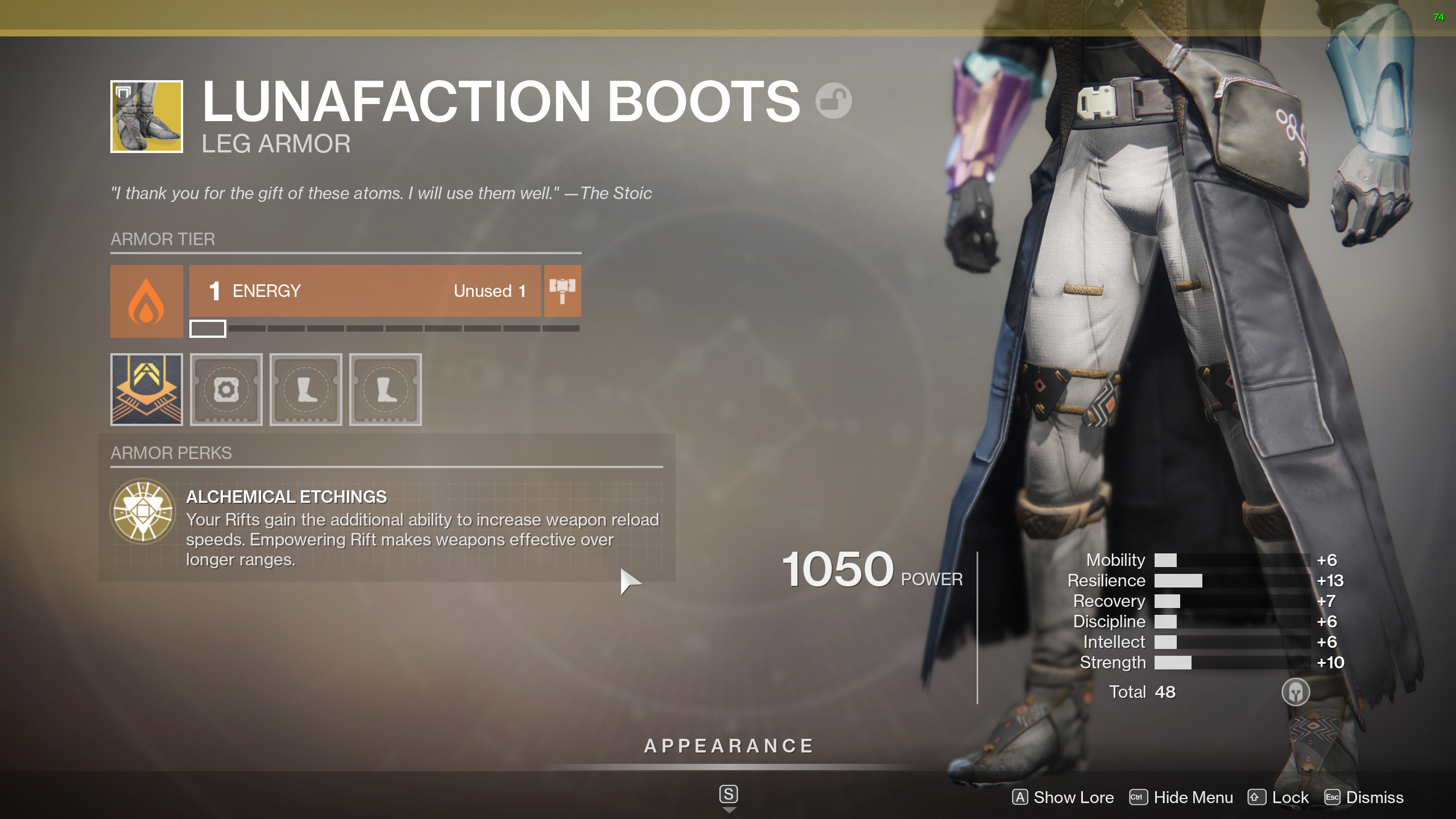 destiny 2 lunafaction boots perk alchemical etchings