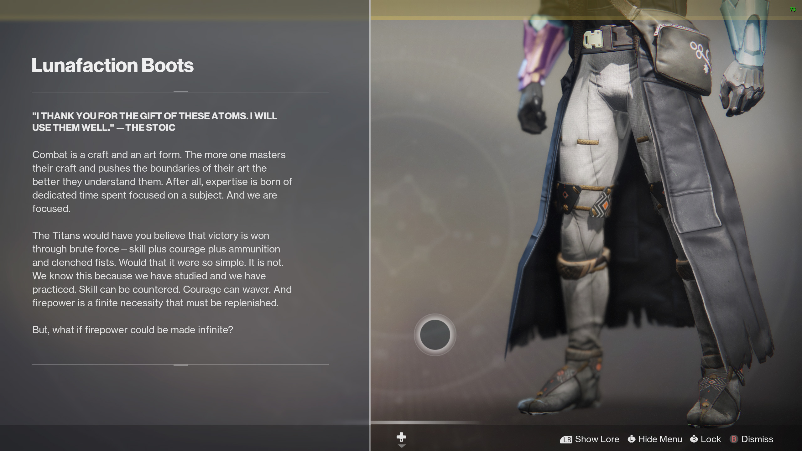destiny 2 lunafaction boots lore