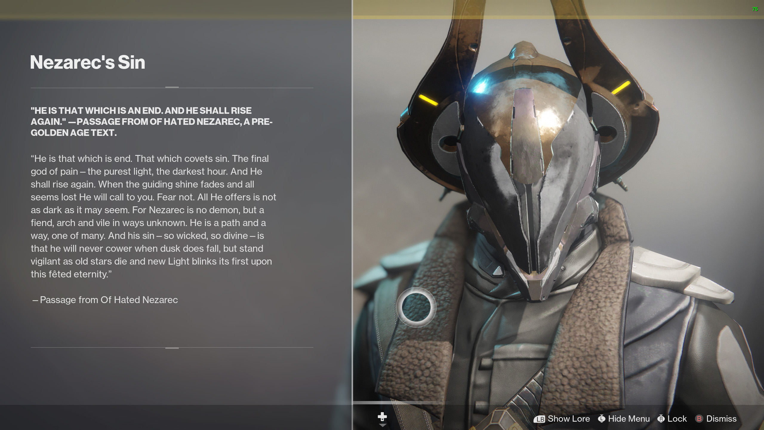 Destiny 2 Nezarec's Sin lore