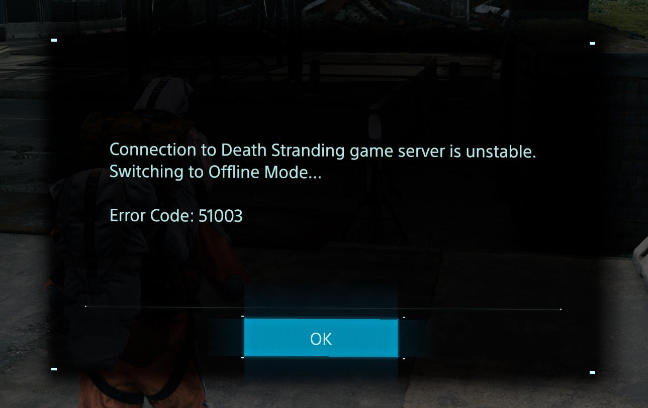 error code 51003 death stranding
