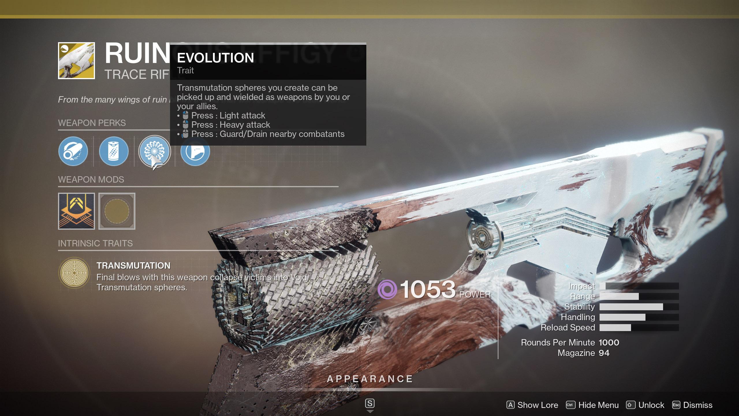 Transmutation Spheres Destiny 2