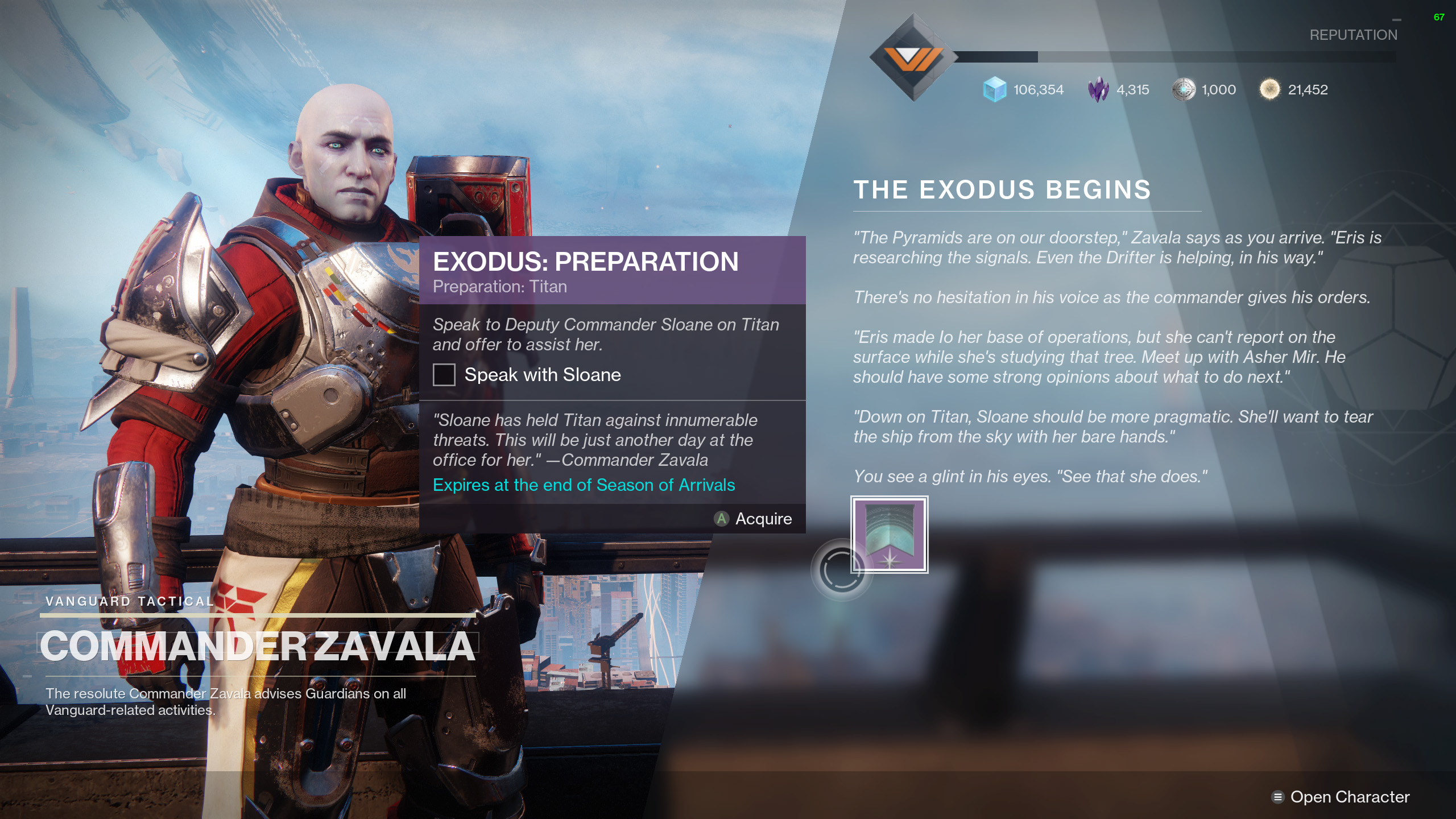 Exodus Preparation Destiny 2