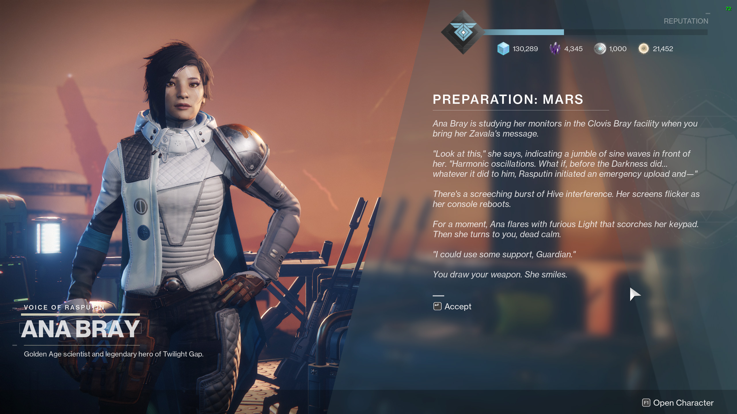 Exodus Preparation Mars destiny 2