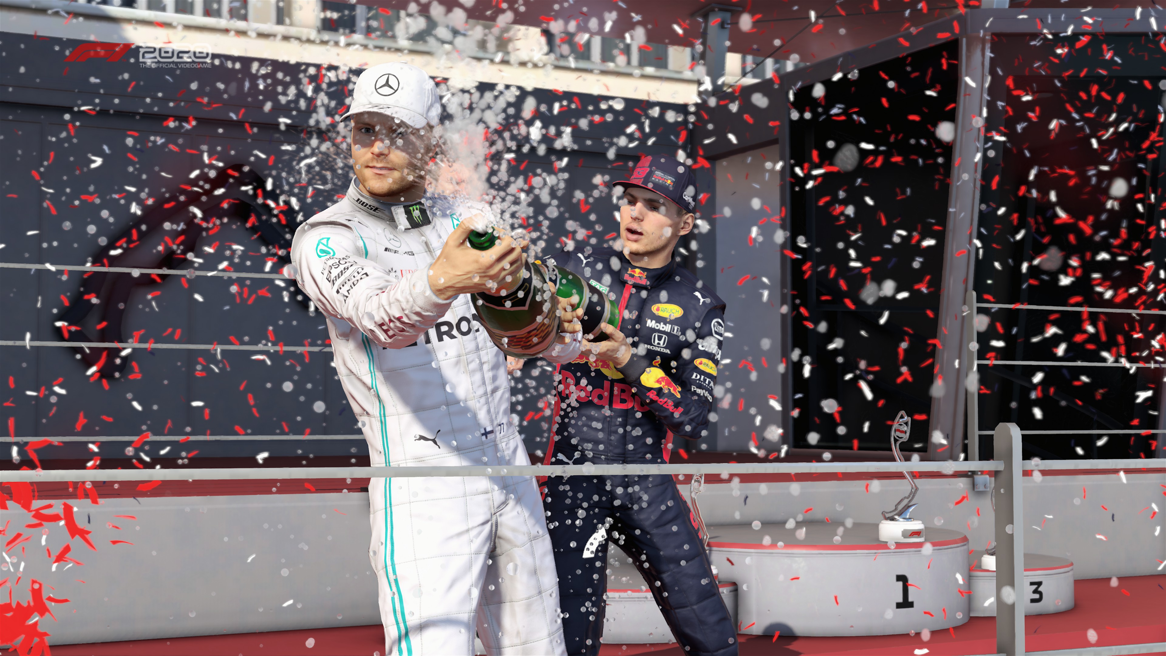 Formula 1 podiums are known to get wet n' wild.