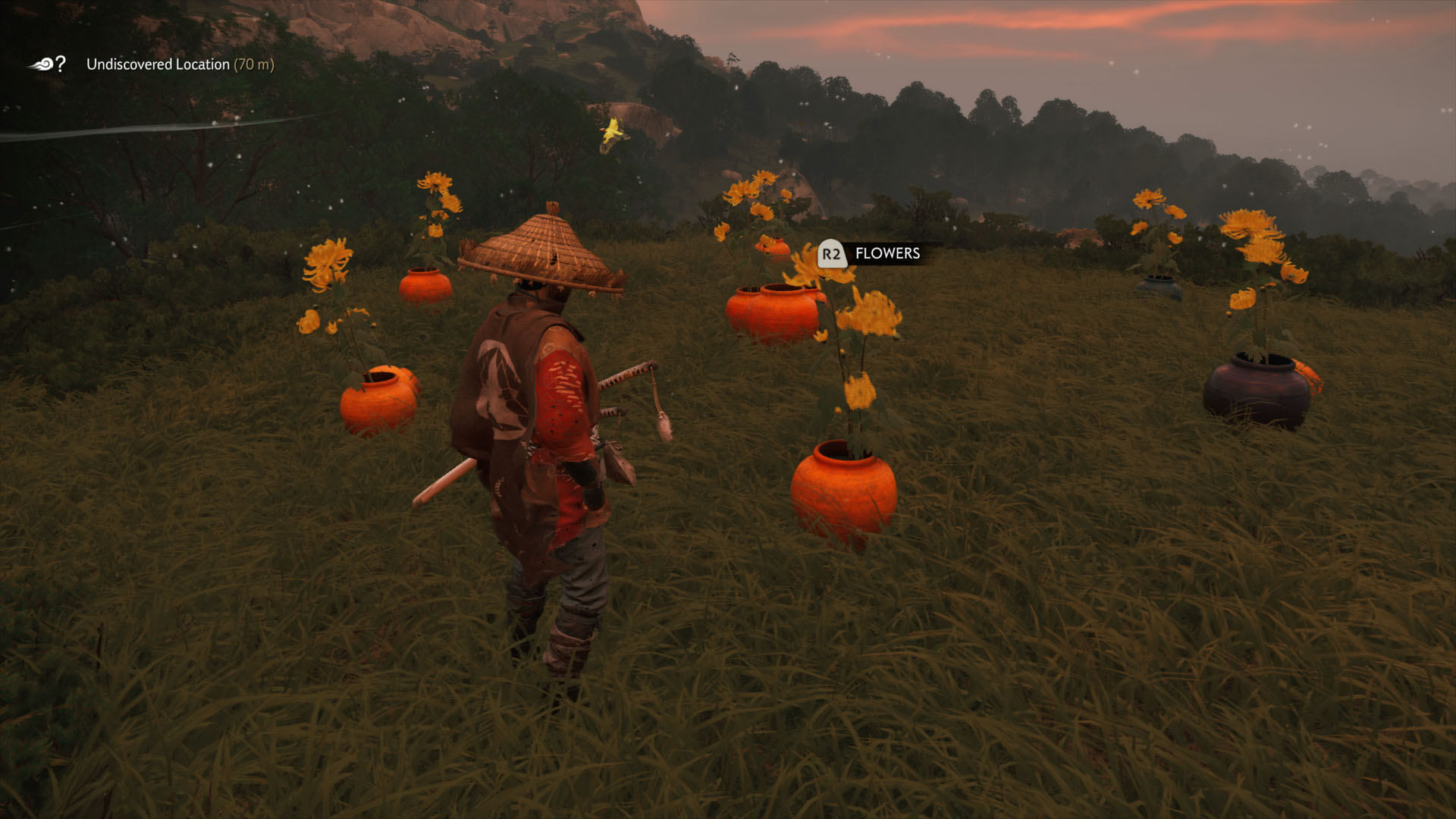 how to farm flowers in Ghost of Tsushima