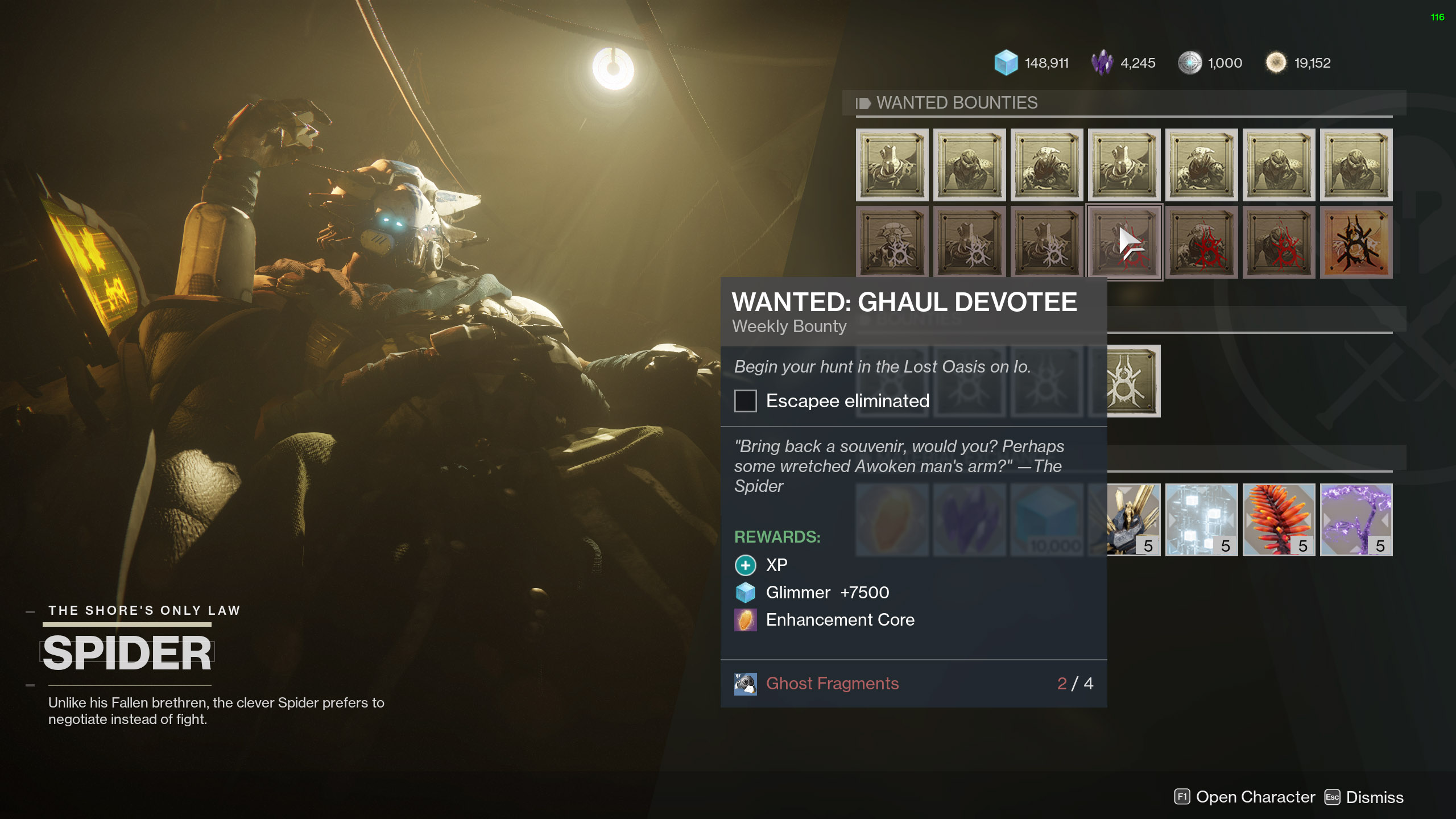 ghaul devotee wanted bounty destiny 2