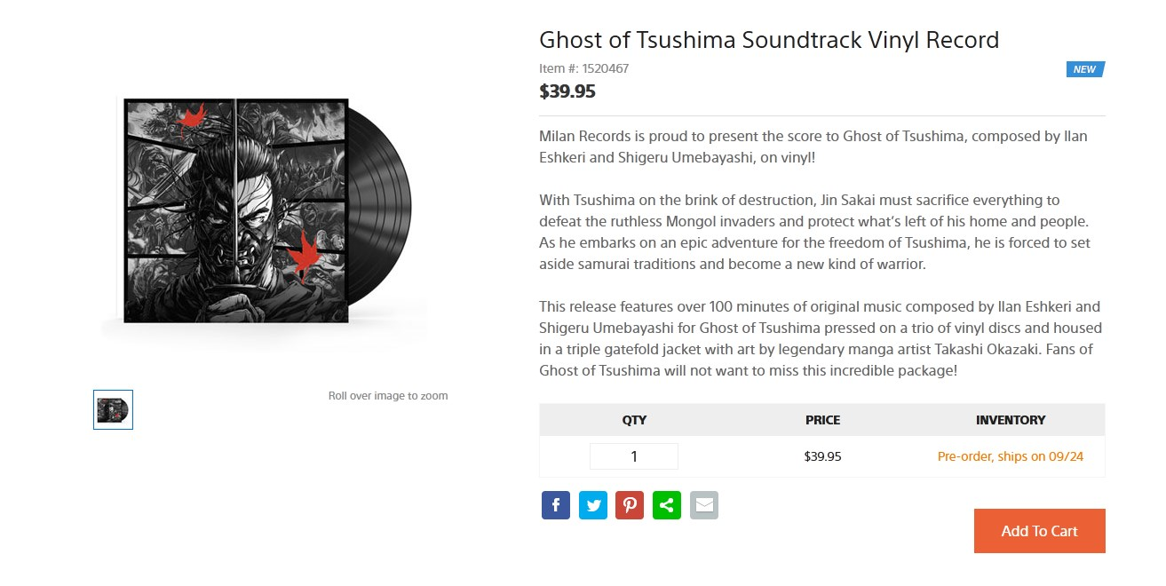 How to preorder the Ghost of Tsushima soundtrack on vinyl