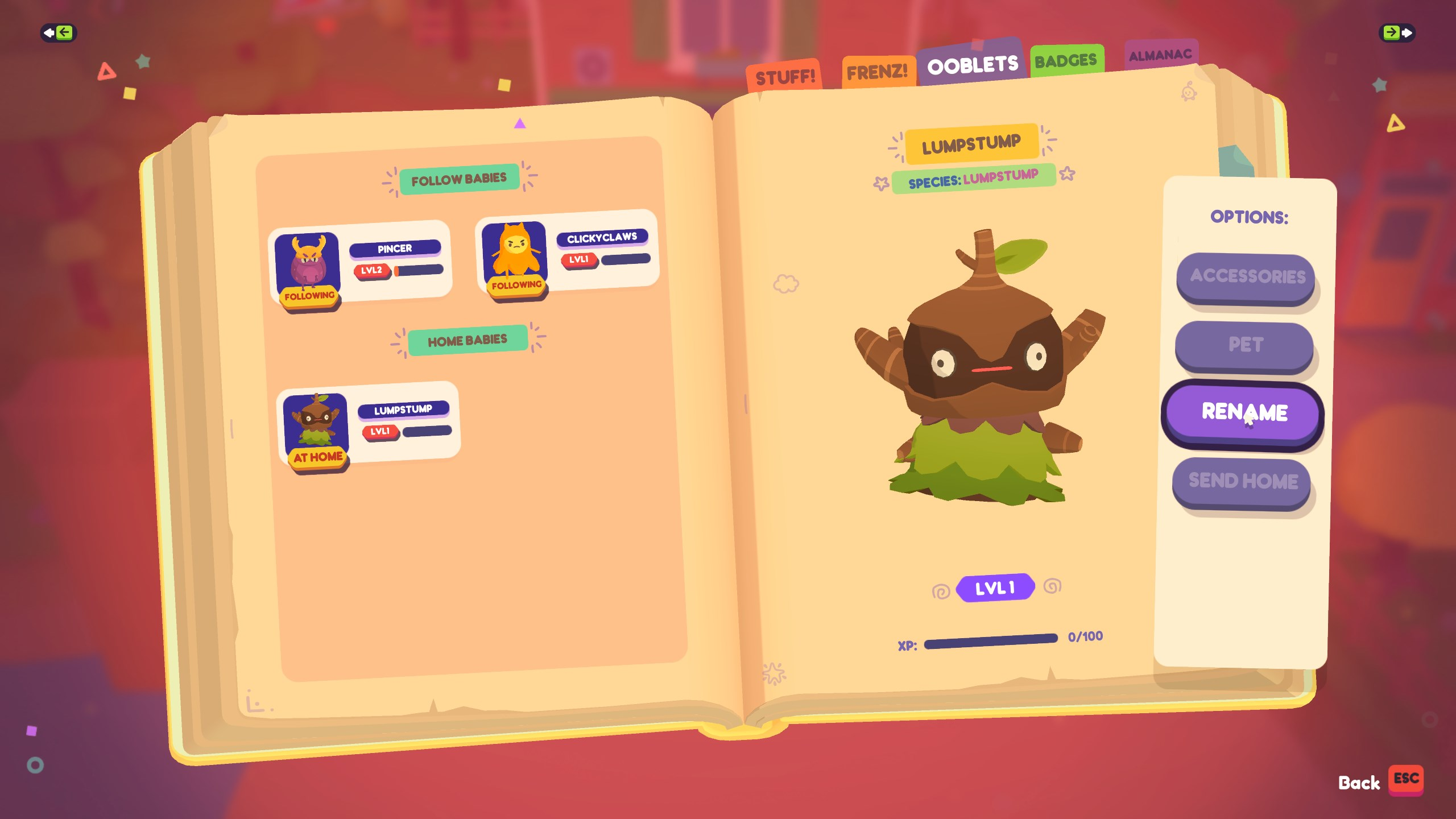 how to change your Ooblets' name