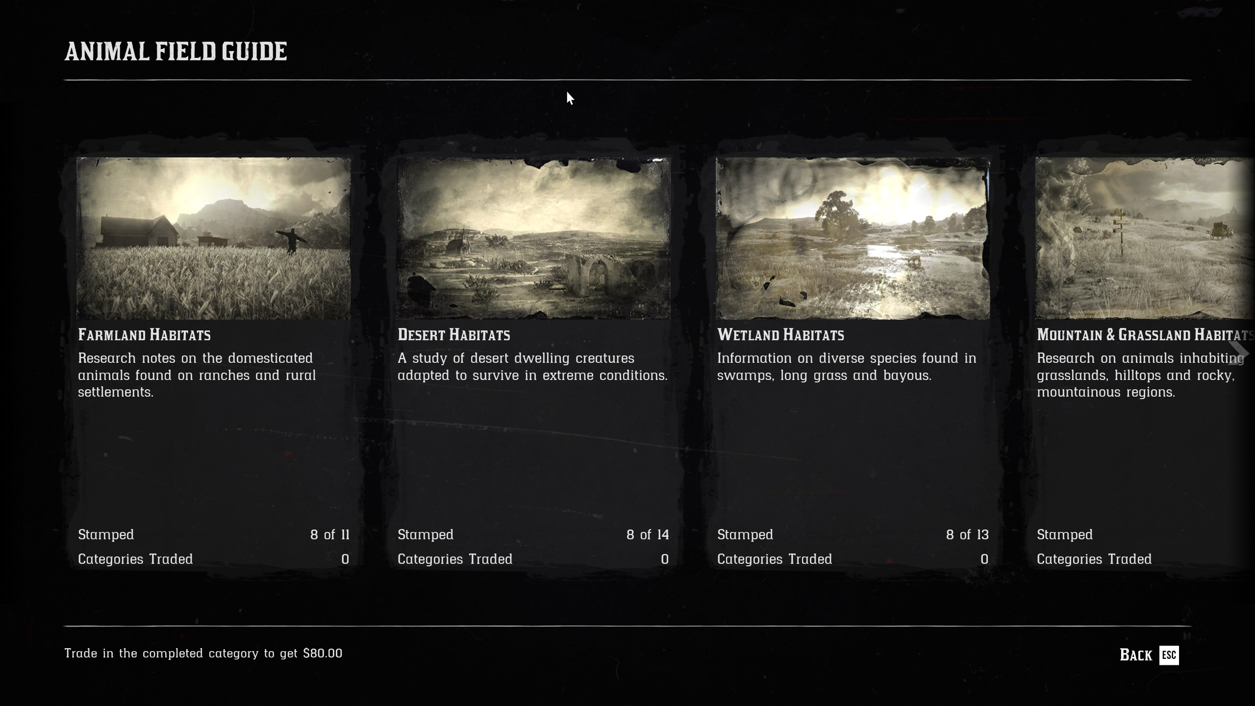 Where to find the Animal Field Guide - Red Dead Online