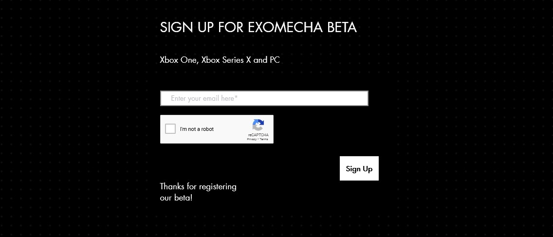 How to sign up for the Exomecha beta