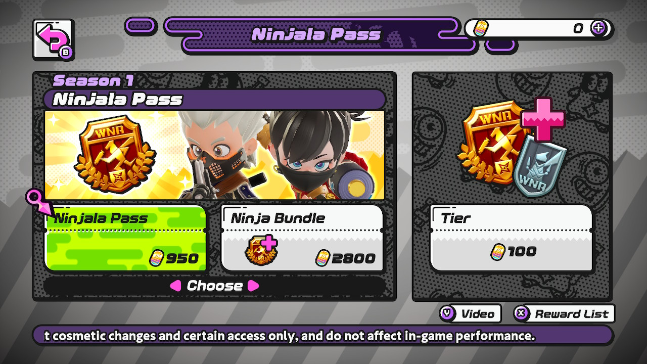 As with many popular multiplayer games, Ninjala features a free and premium, purchasable season pass, both with rewards for continued play.