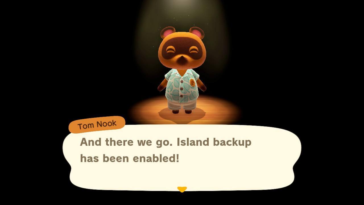 Island backup enabled - animal crossing: new horizons