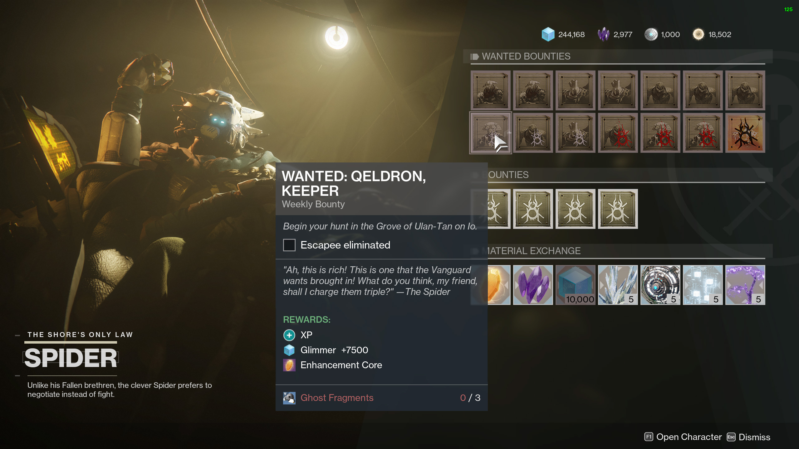 Qeldron Keeper wanted bounty Destiny 2