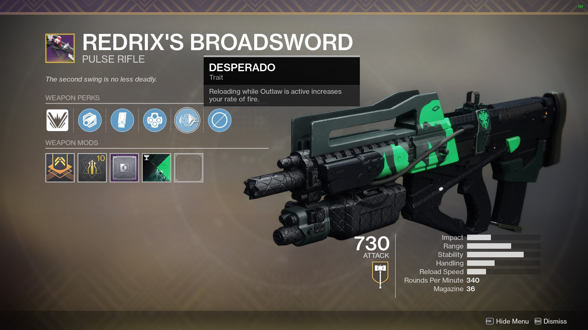 Redrix's Broadsword Destiny 2