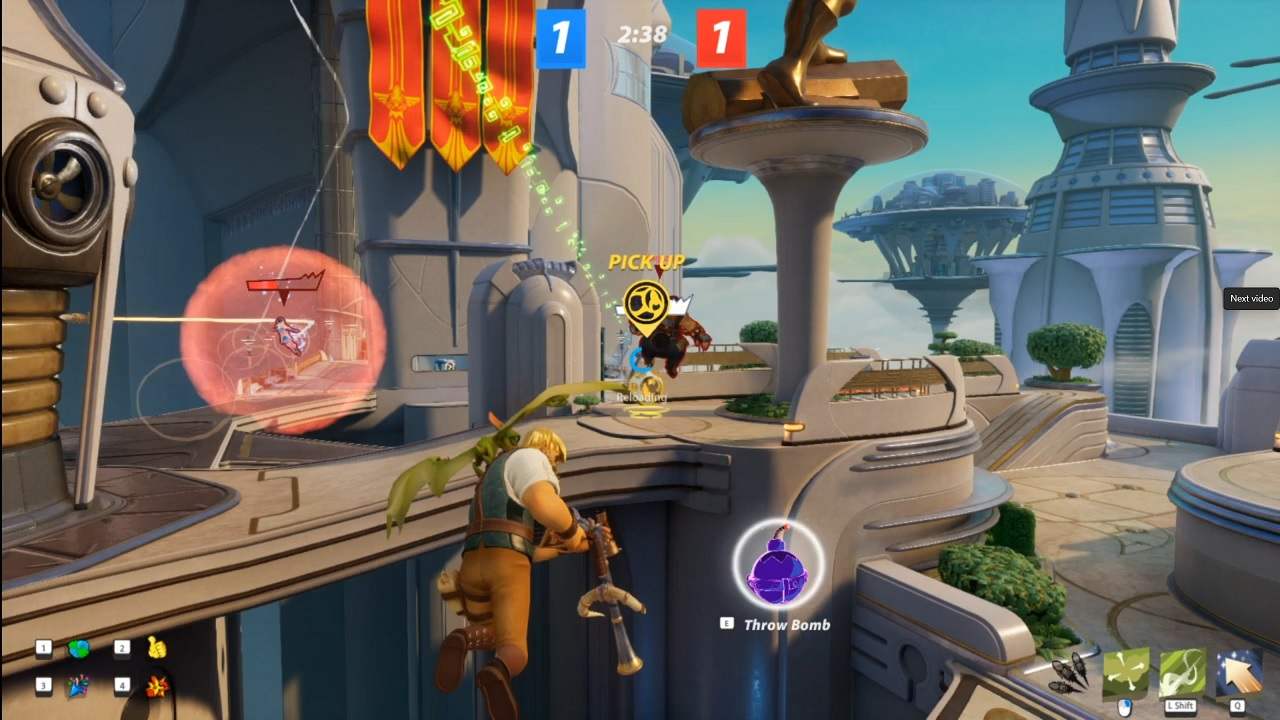 Game modes like Rocket Ball force players to deploy very different strategies with the various characters if they want to win.