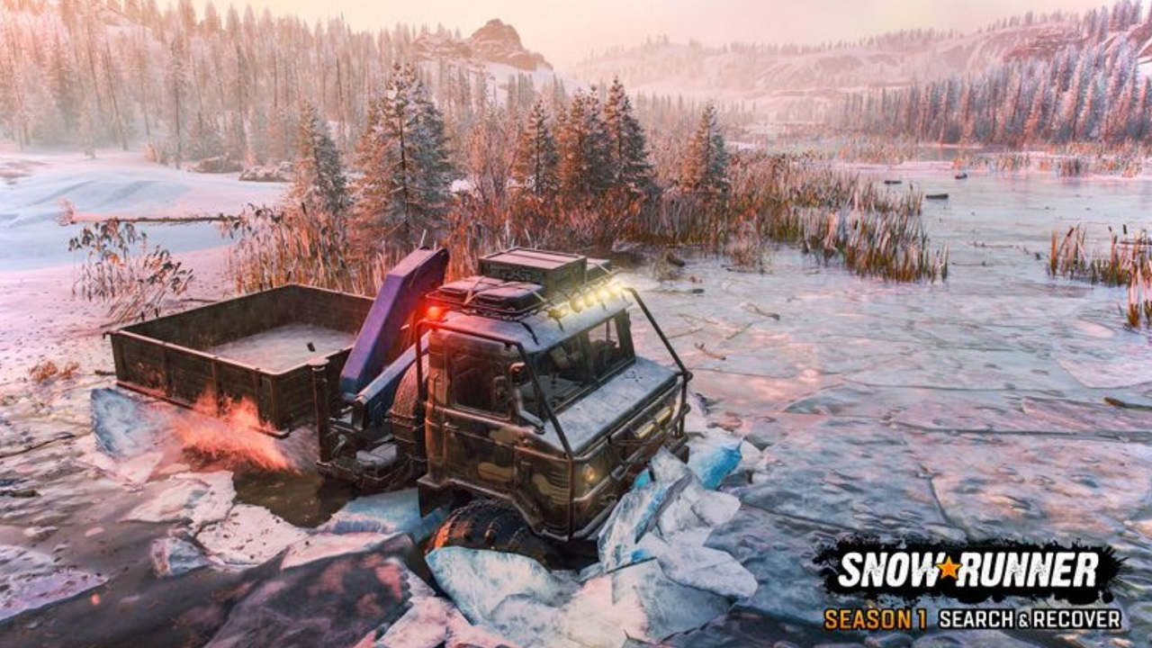 Lake Kovd will be SnowRunner's first time featuring water surface ice as a hazard, mind your vehicle's weight as you brave the lake in Season 1: Search & Recover.