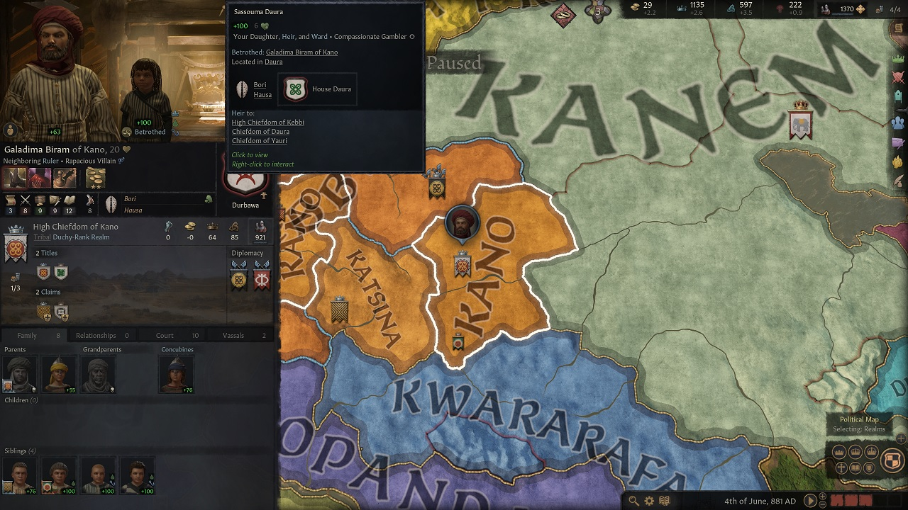 The vast complexity of Crusader Kings 3 means engaging my deceased husband's son in short war, taking his mother prisoner, and ransoming her back for a forced alliance is just part of a day's work in statecraft.
