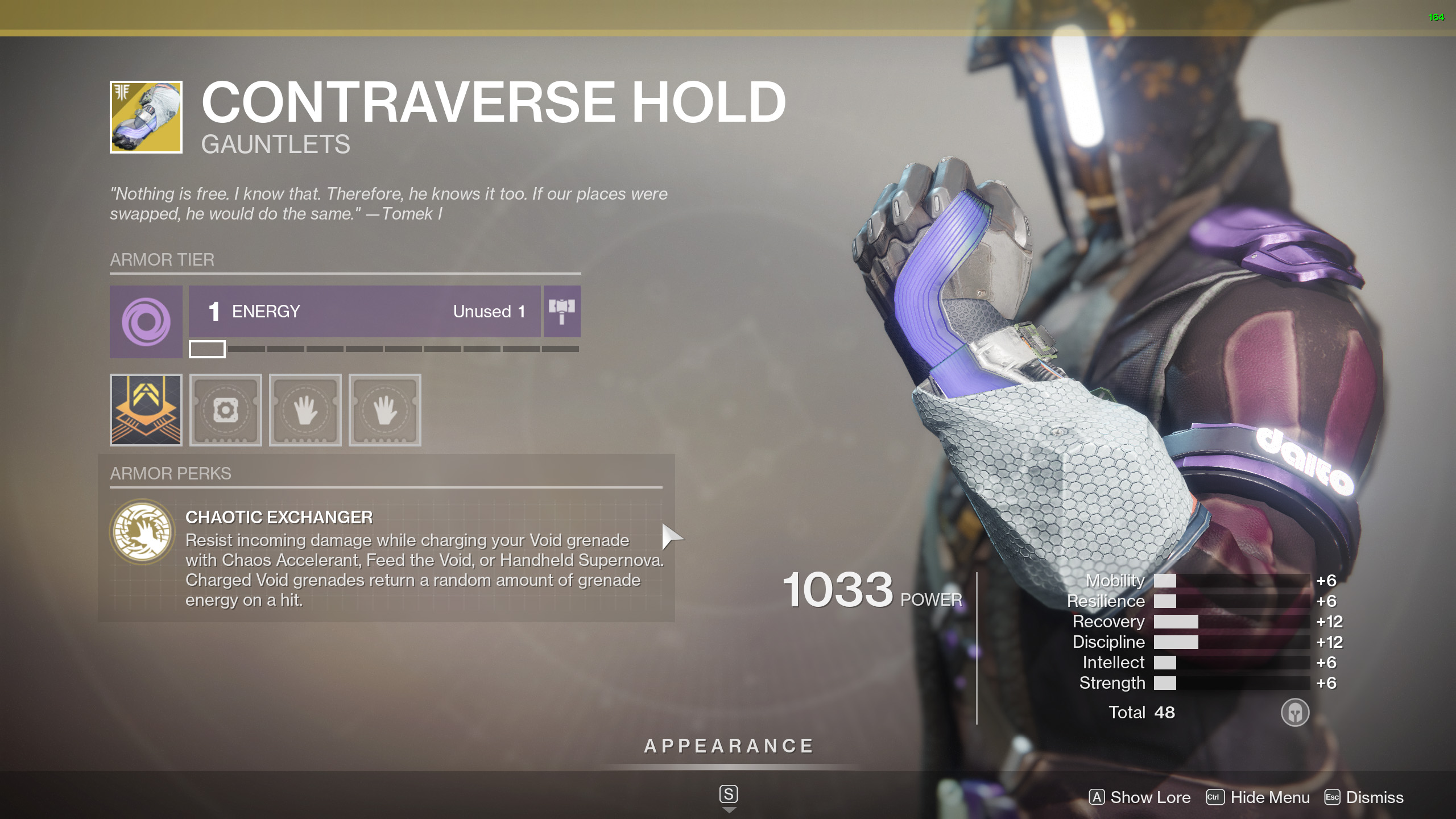 contraverse hold perk chaotic exchanger destiny 2