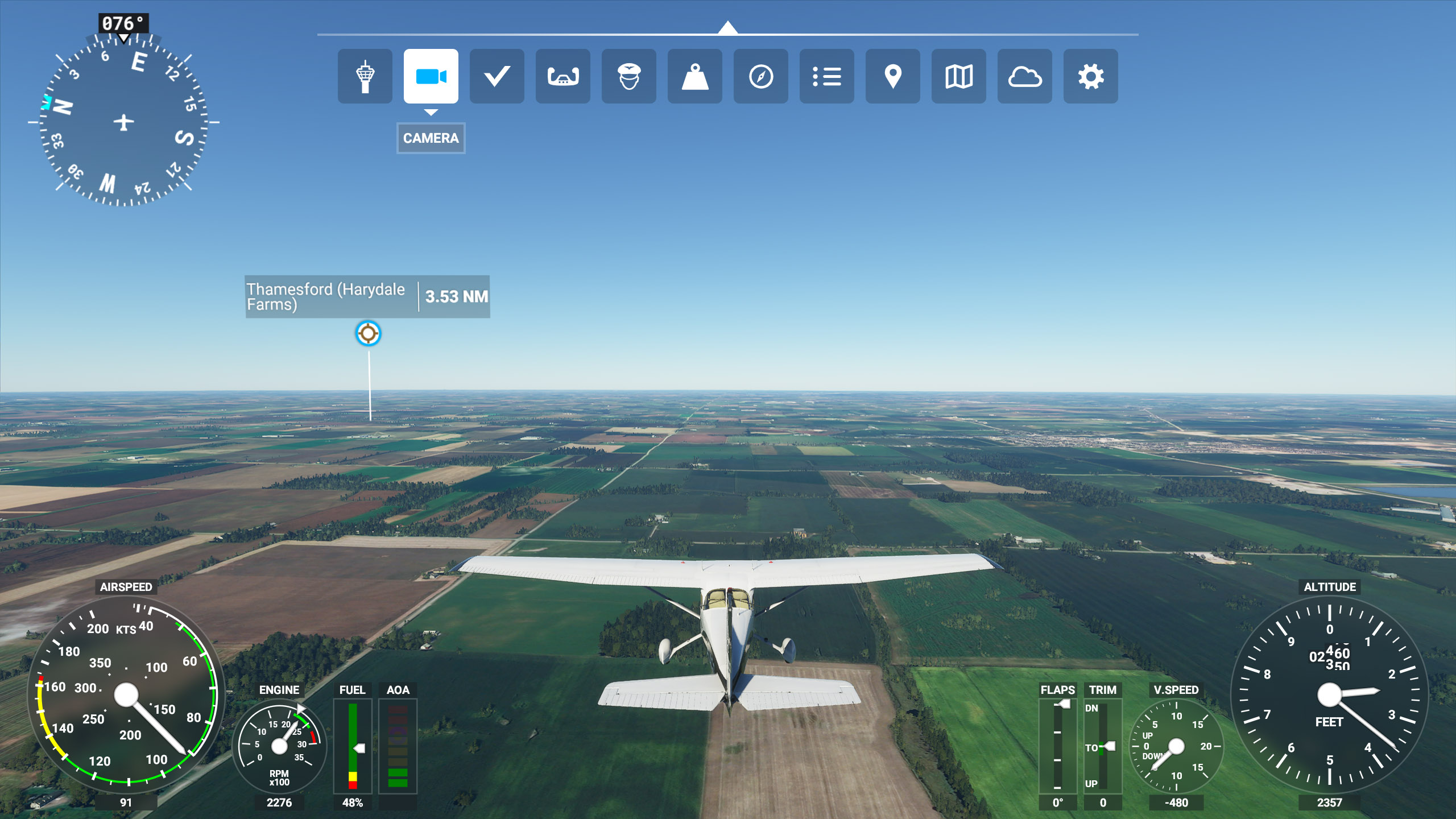 Hide HUD Microsoft Flight Simulator 2020
