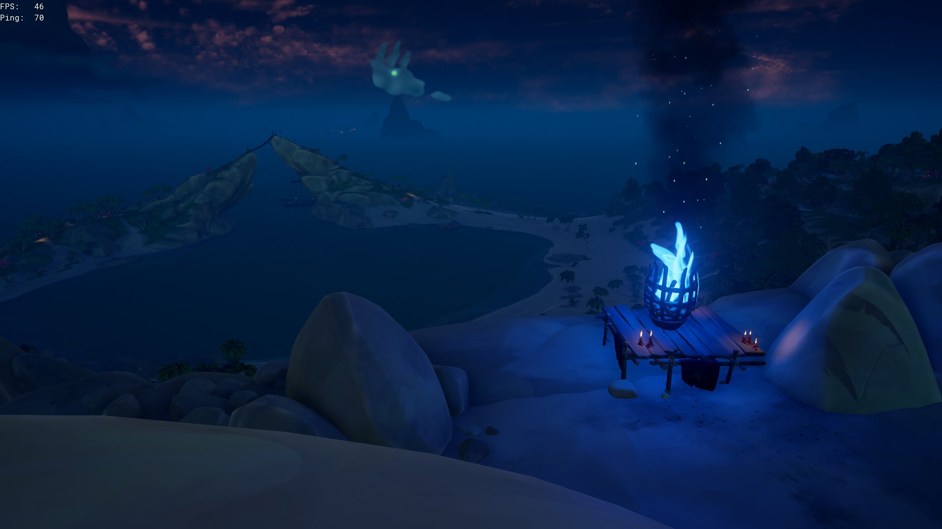 hunters of the deep blue flame beacon sea of thieves