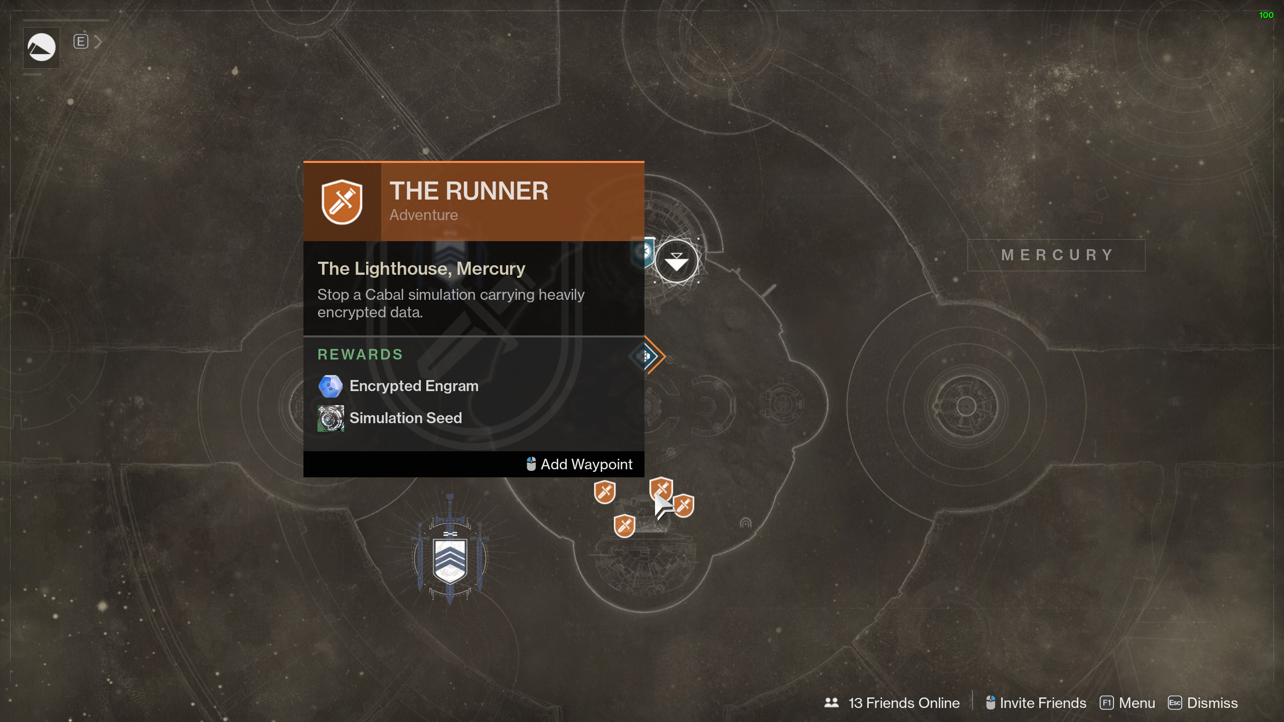 mercury adventures destiny 2