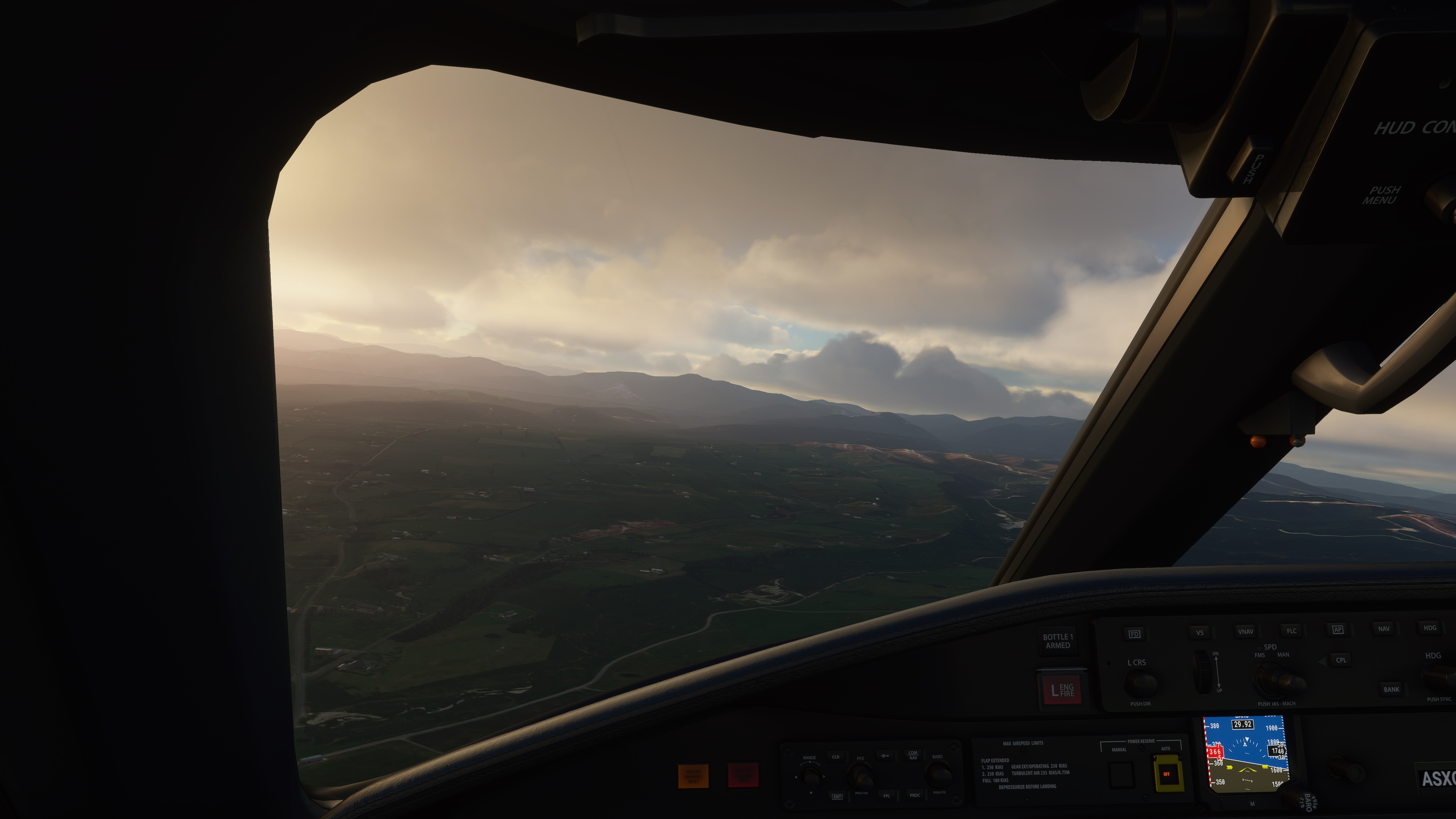 Some settings affect cockpit interiors while others do not.