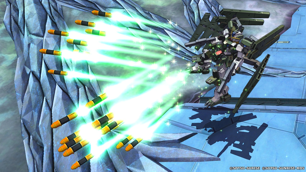 Mobile suits like Zabanya and its exclusively projectile attacks will be far better suited to the Shooting EX Mode than Fighting.