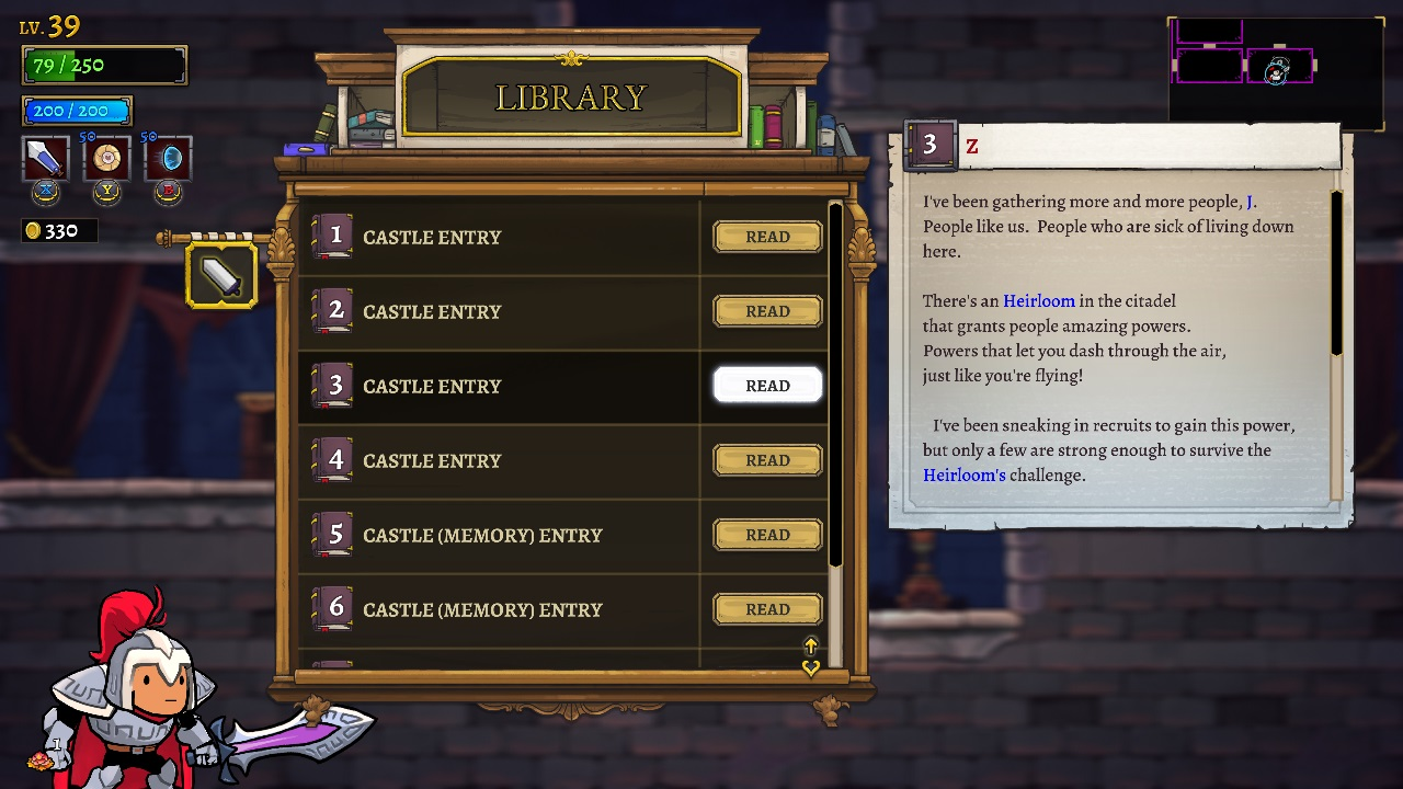 The new Insight system in Rogue Legacy 2 is a really fun way to incorporate lore and clues into your exploration of each dungeon and its secrets in Rogue Legacy 2.