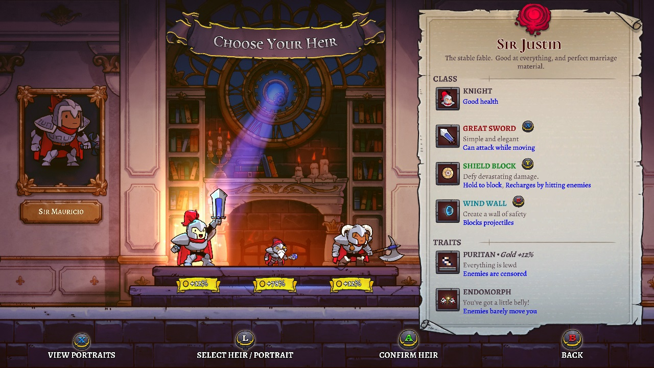 Cellar Door Games has really upped the game of inheritance in Rogue Legacy 2, making new classes and traits part of the heir-picking process on each new run.