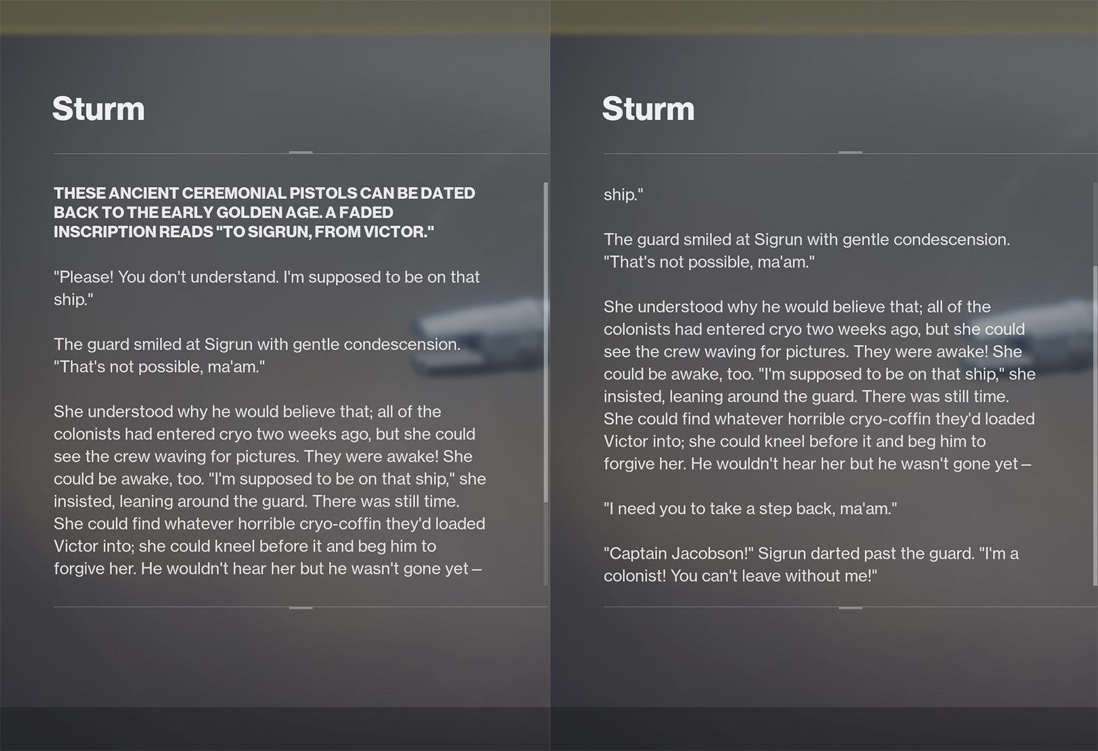 sturm lore destiny 2