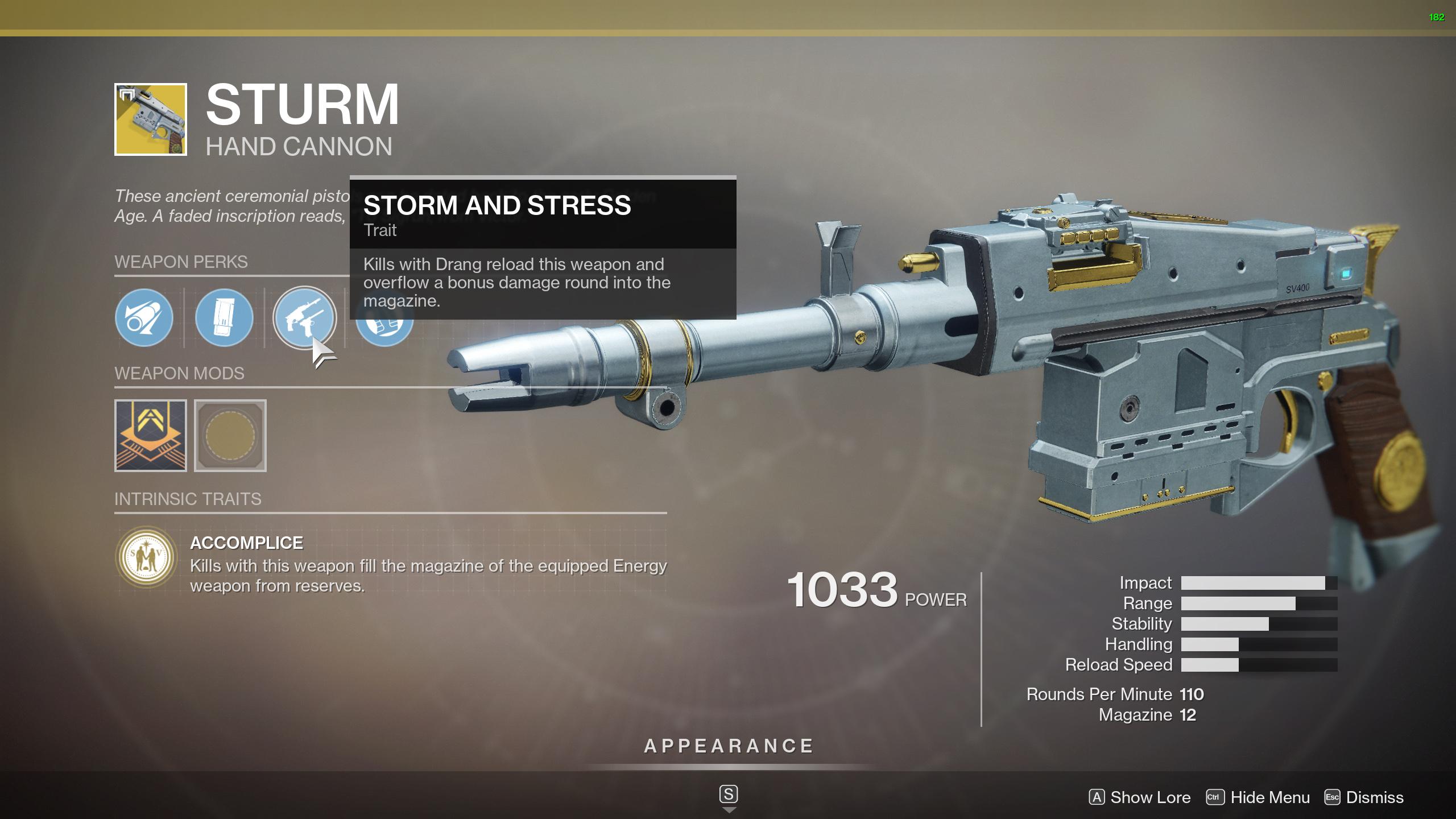 sturm perks destiny 2