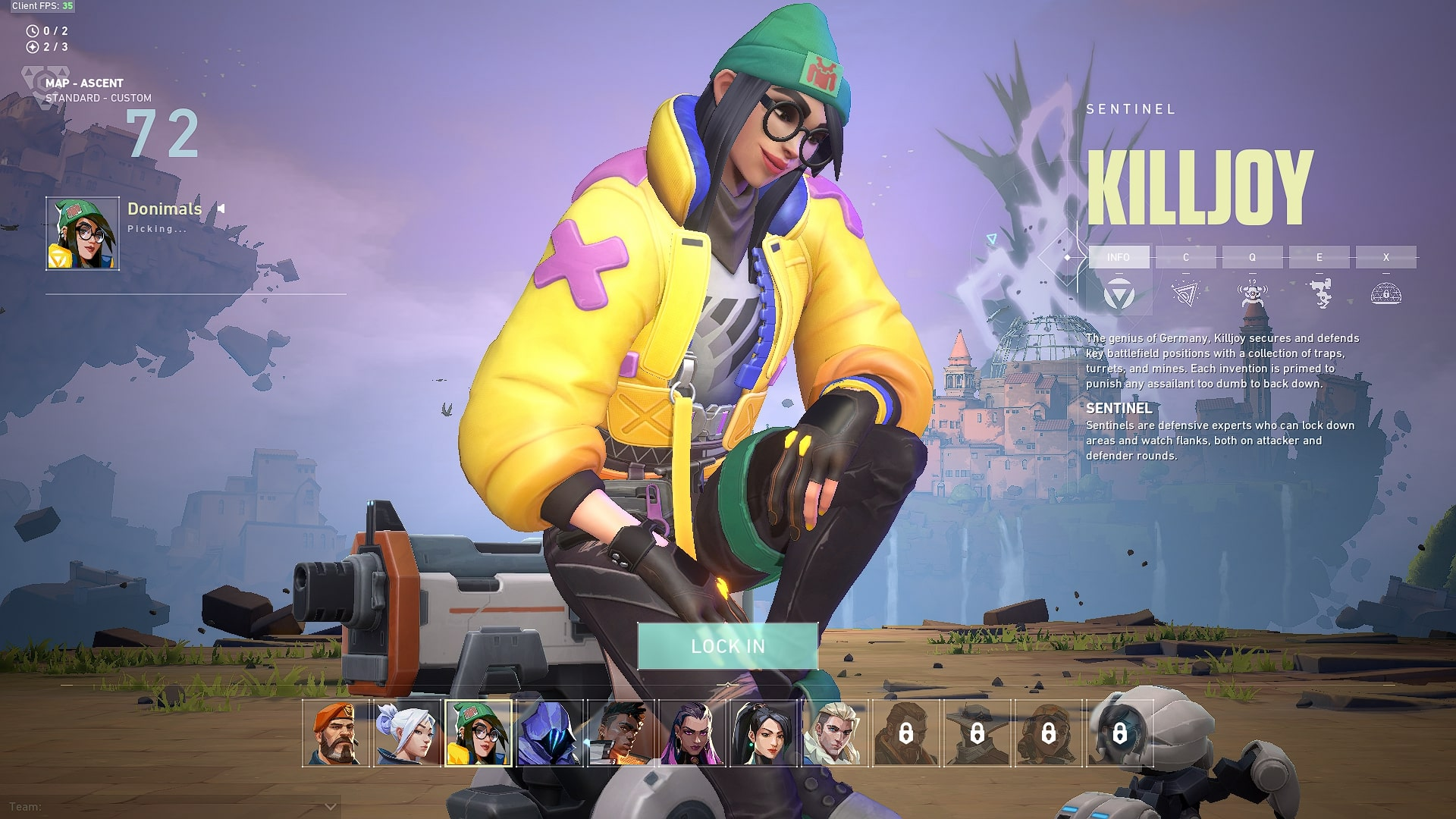 Killjoy is one of the characters in the game. (Image: Valorant)