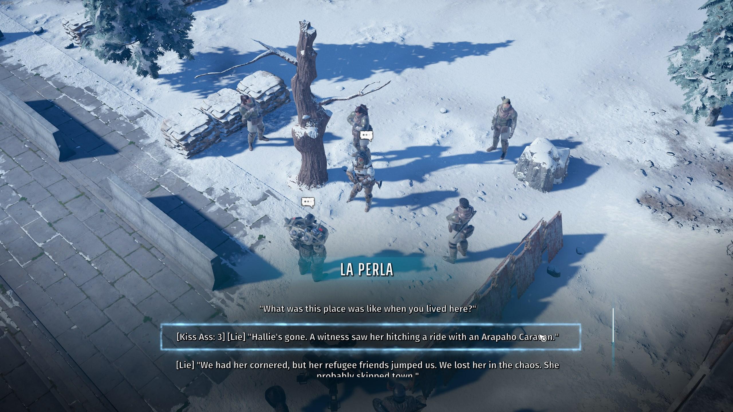 La Perla dialogue - Ranger HQ vault codes - Wasteland 3