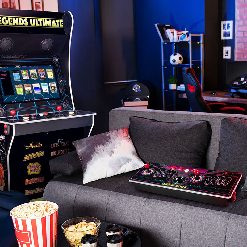 As can be seen in comparison, even the Legends Gamer Pro is an economically-sized alternative to having an entire arcade cabinet in your home.