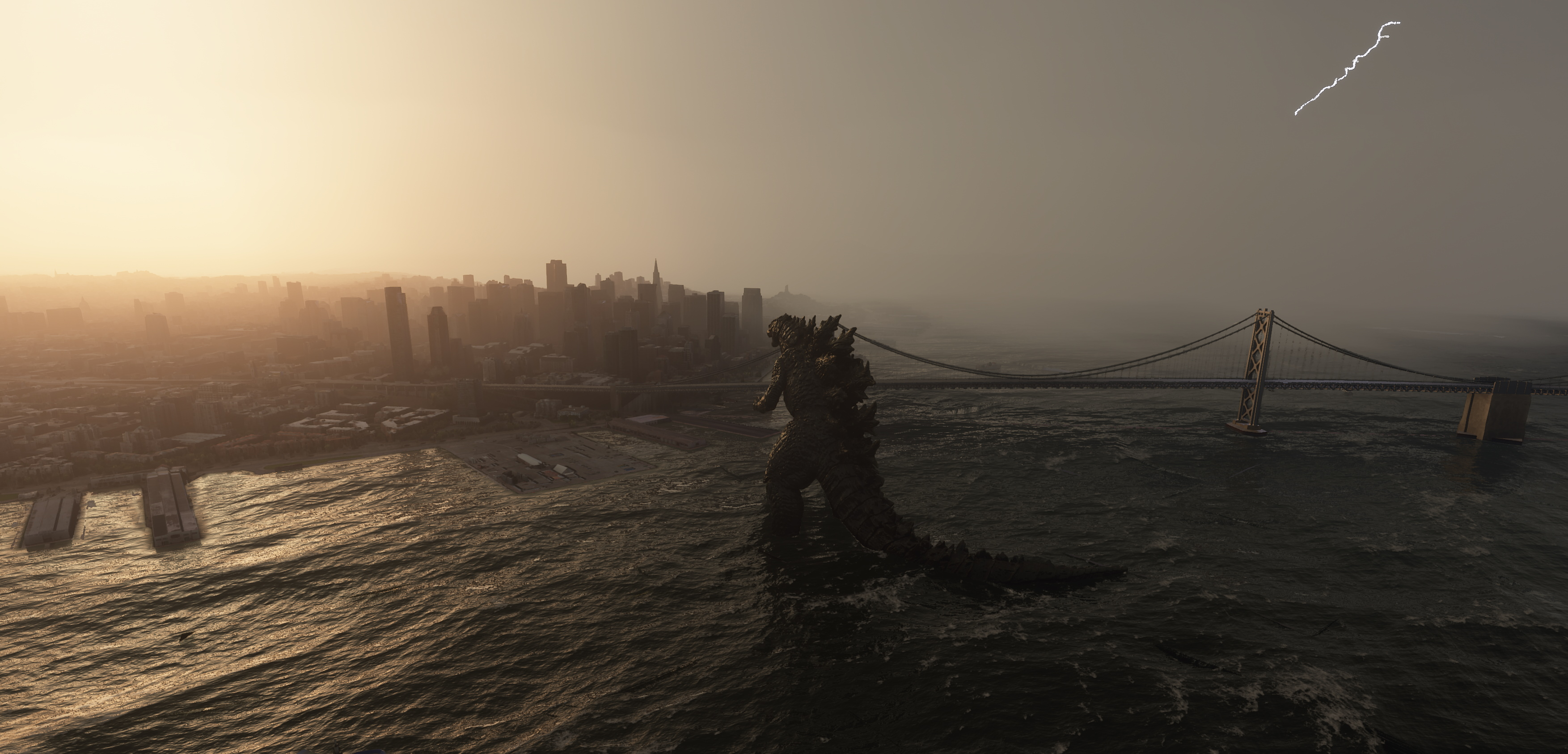 Hopefully we get more full-scale kaiju added to Microsoft Flight Simulator 2020.