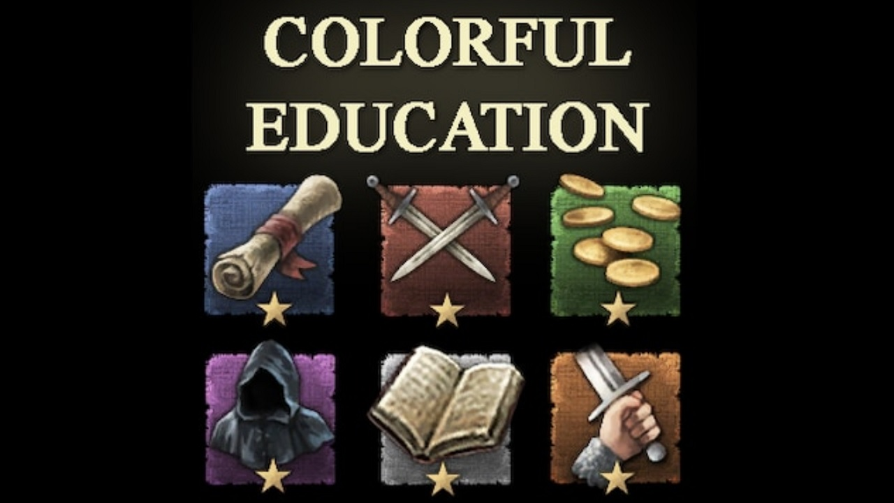 CK2 Style Colorful Education Traits mod by Aj