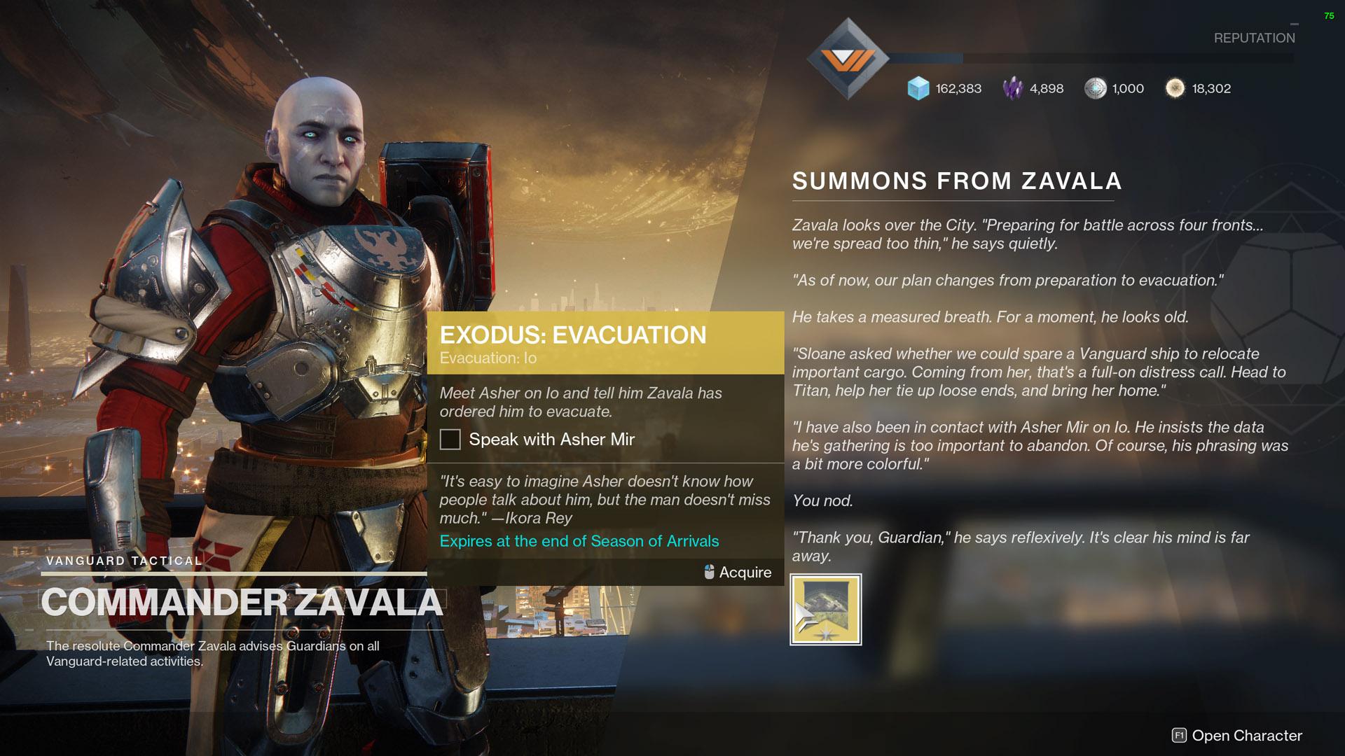 destiny 2 exodus evacuation