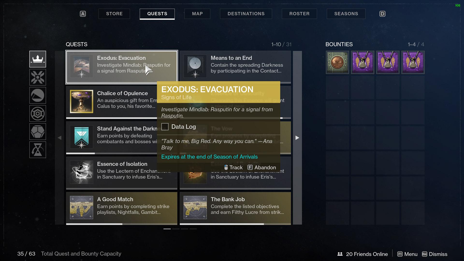 Destiny 2 Exodus Evacuation Signs of Life