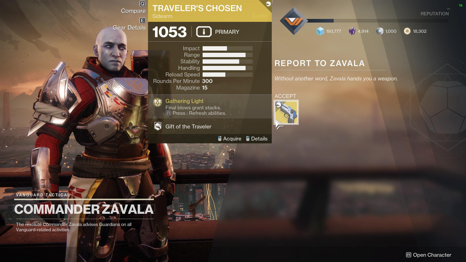 Destiny 2 Exodus Evacuation Traveler's Chosen