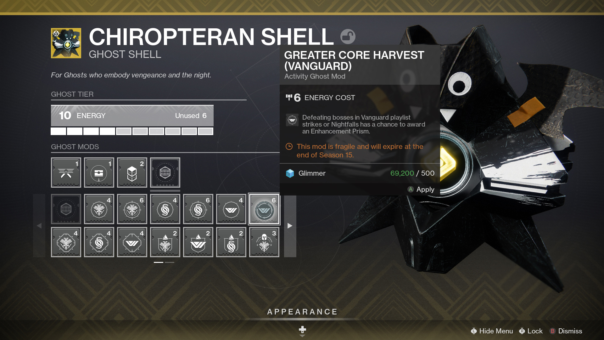destiny 2 ghost changes mods