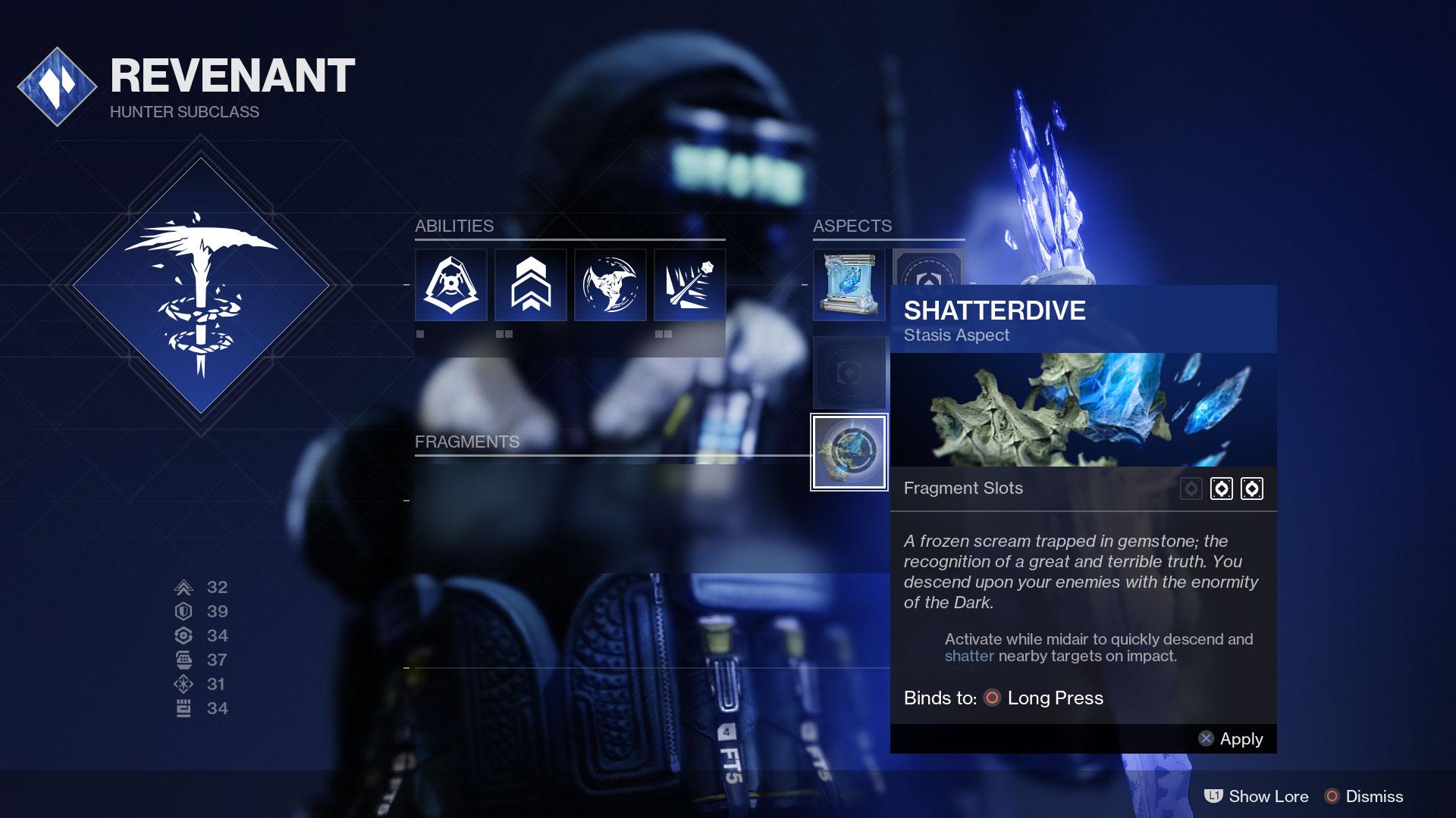 destiny 2 shatterdive aspect Hunter Revenant reveal