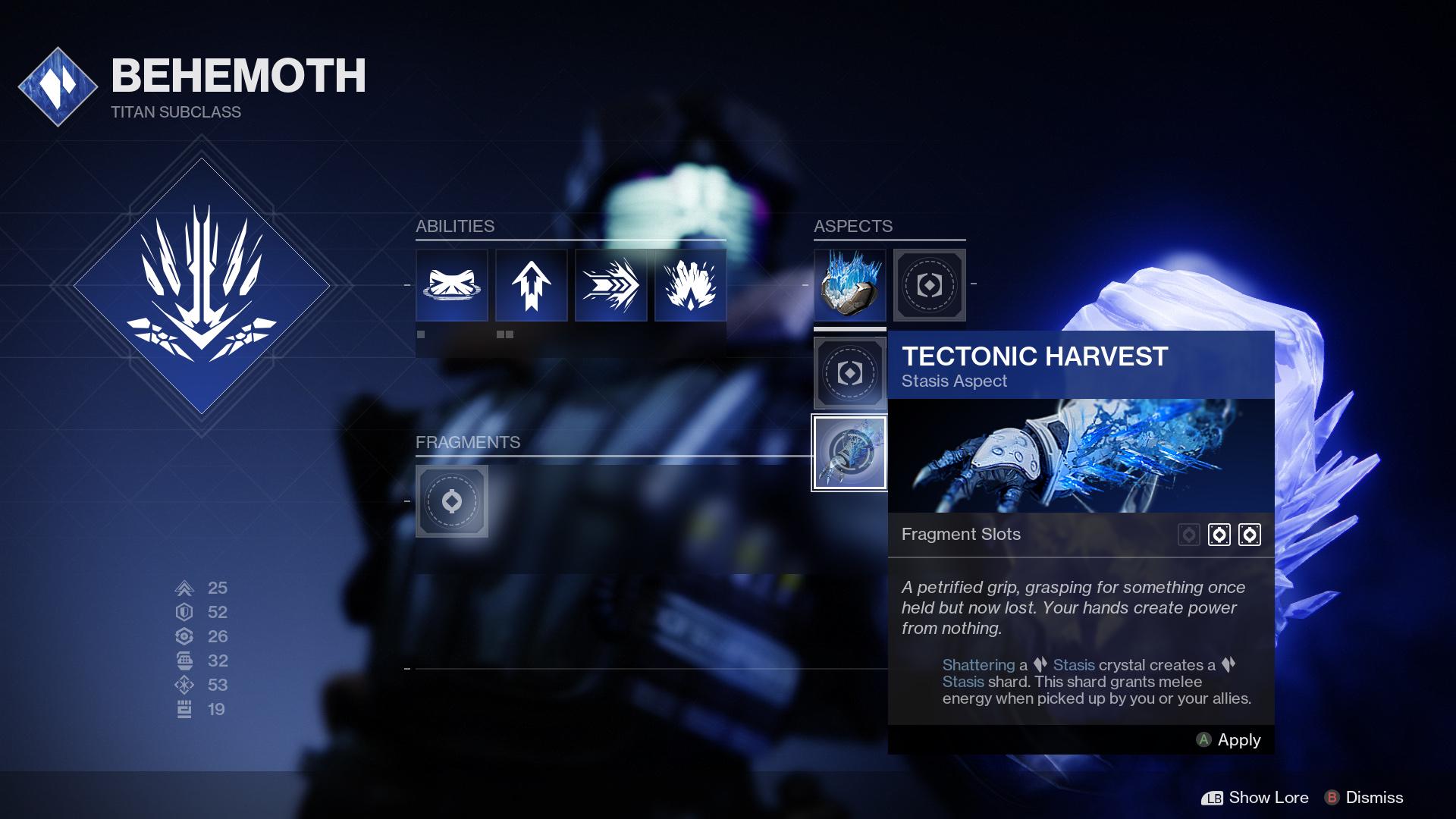 destiny 2 titan behemoth aspect
