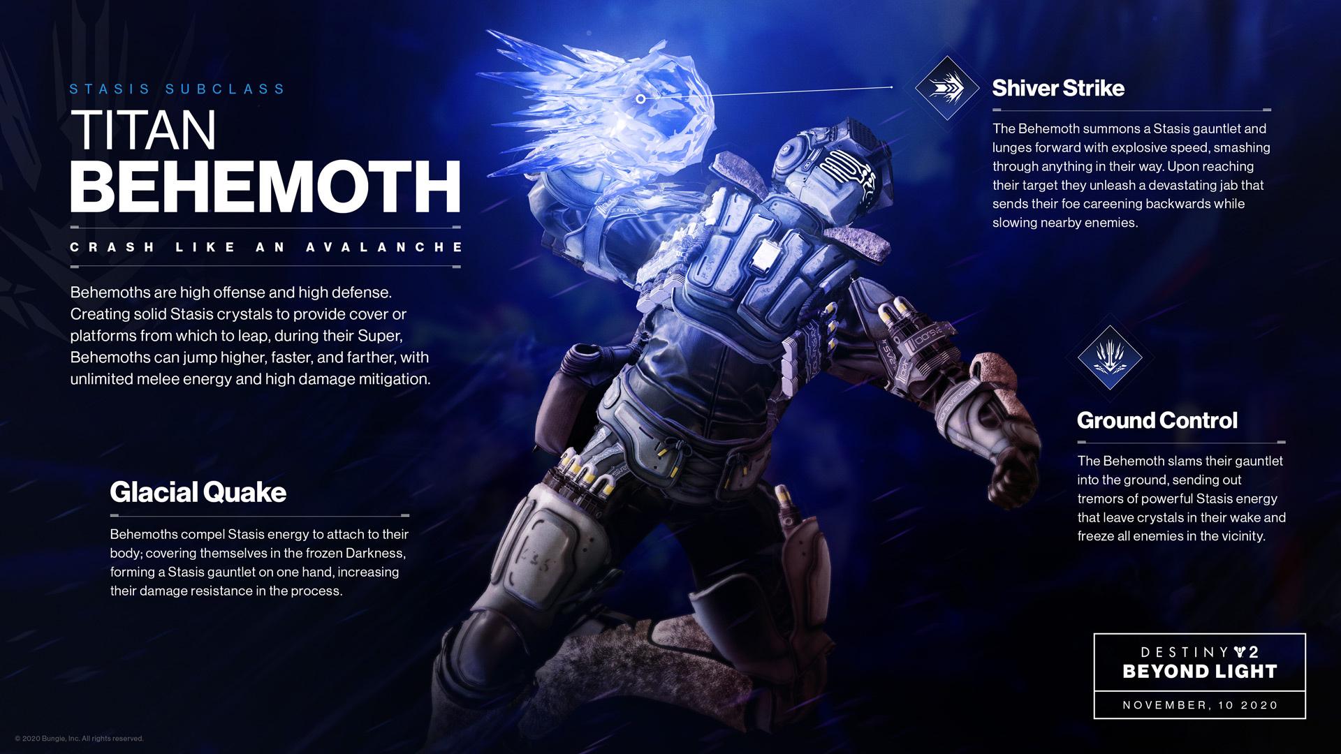 Destiny 2 Titan Behemoth