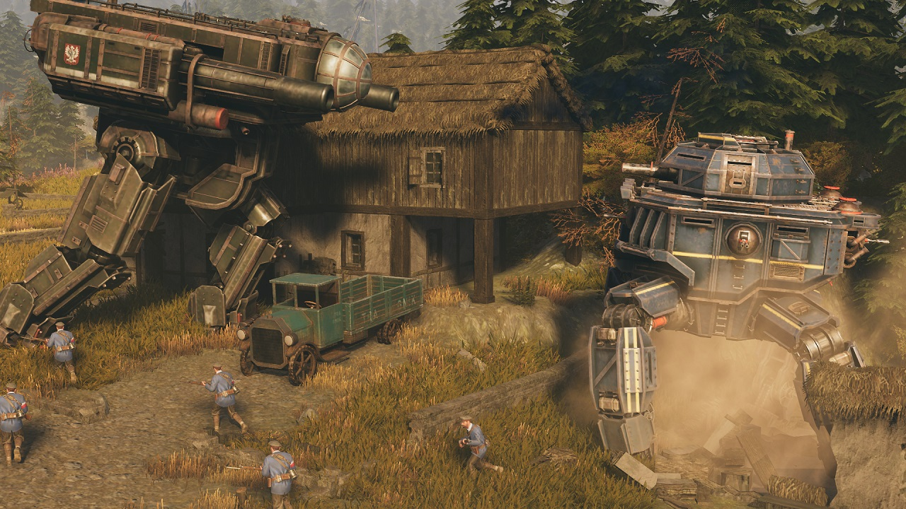 By the time you get to using the above mechs in Iron Harvest, cover-based mechanics will be a distant memory.