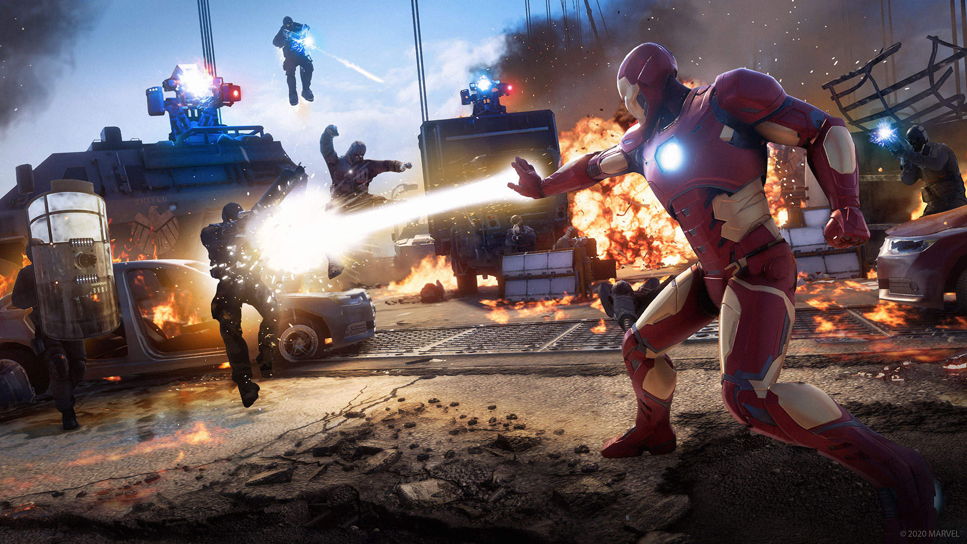 There is currently no couch co-op or offline co-op in Marvel's Avengers