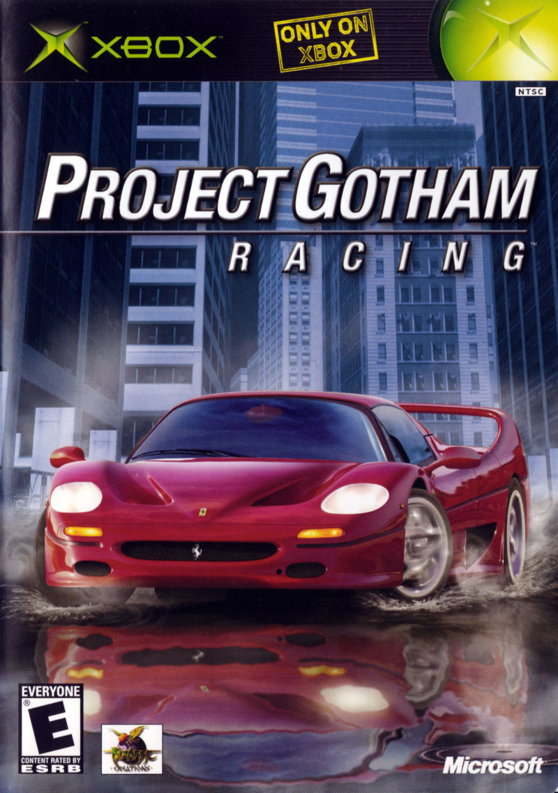 Box artwork for Project Gotham Racing.